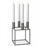 by Lassen - Kubus 4 Kerzenständer Grau