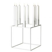 by Lassen - Kubus 8 Kerzenständer Weiß