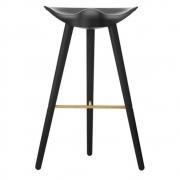 by Lassen - ML42 barstool H77 cm Beech Black-Brass