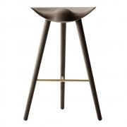 by Lassen - ML42 barstool H77 cm Oak Dark-Brass