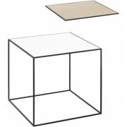 by Lassen - Twin 35 Table Beistelltisch (schwarzer Rahmen)