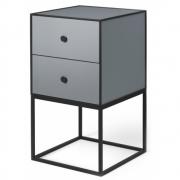by Lassen - Buffet avec deux tiroirs Frame Sideboard 35 Gris foncé
