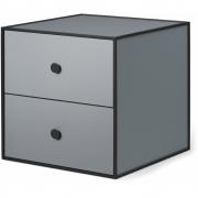 by Lassen - Boîte avec deux tiroirs Frame 35 Gris foncé