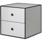 by Lassen - Boîte avec deux tiroirs Frame 35 Gris clair