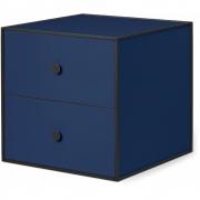 by Lassen - Boîte avec deux tiroirs Frame 35 Bleu foncé