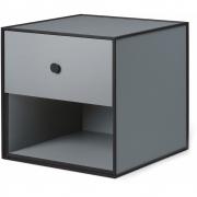 by Lassen - Boîte avec un tiroir Frame 35 Gris foncé