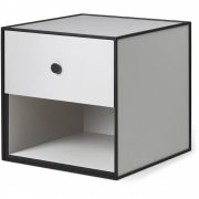 by Lassen - Frame 35 Box with one Drawer Light Grey