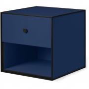 by Lassen - Boîte avec un tiroir Frame 35 Bleu foncé