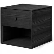 by Lassen - Boîte avec un tiroir Frame 35 Noir