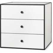 by Lassen - Boîte avec trois tiroirs Frame 49 Blanc