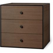 by Lassen - Frame 49 Box mit drei Schubladen Geräucherte Eiche