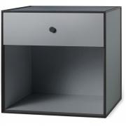 by Lassen - Boîte avec un tiroir Frame 49 Gris foncé