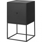 by Lassen - Frame Sideboard 35 with door Black stained ash