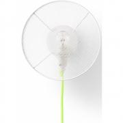 Applique Grillo - Petite Friture Avec Câble | Petit | Blanc/Jaune