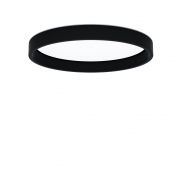 Louis Poulsen - LP Circle Halbeinbau Deckenleuchte Ø 45 cm, 25W LED 3000K | Schwarz | DALI/SWITCH-DIM