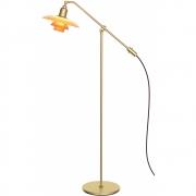 "Louis Poulsen - PH 3/2 Amber Coloured Glass ""The water pump"" Floor Lamp"