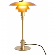 Louis Poulsen - PH 2/1 Table Lamp Limited Edition Amber Glass, Brass