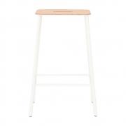 Frama - Adam Stool 65 cm | Leather-White