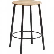 Frama - Adam Stool R031 Round Oak Black | 50 cm