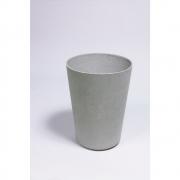 Eternit - Alto Pflanzengefäß Ø 39 x H 55 cm | Grau