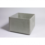 Eternit - Delta Pflanzengefäß quadratisch 60 x 60 x 45 cm | Grau