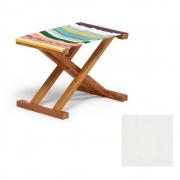 Weishäupl - Cabin Deck Chair Stool Acryl - White