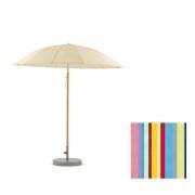 Weishäupl - Pagoda Umbrella Ø 240 cm | Wood White | Acryl - Multicolor