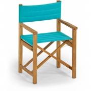 Weishäupl - Sitzpolster für Cabin Regiestuhl, Acryltuch Türkis