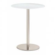 Pedrali - Inox round 4401 Mesa de cafetaria Wengué decapado Laminado | Aço inoxidável | 70 cm