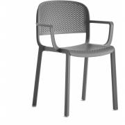 Pedrali - Dome 266 Cadeira com braços perfurada Branco