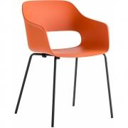 Pedrali - Babila 2735 Cadeira com braços Outdoor Mostarda | Preto