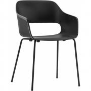Pedrali - Babila 2735 Cadeira com braços Outdoor Cinzento   Preto