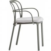 Pedrali - Almofada do assento para Intrigo 3715 Cadeira com braços Cor-de-laranja
