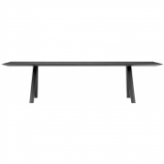 Pedrali - Arki Table 300x120cm black fenix with cable management