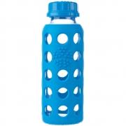 Lifefactory - Glas-Trinkflasche 250 ml | Ozeanblau