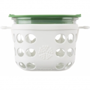 Lifefactory - Glass Food Storage 475 ml | White/Grass Green