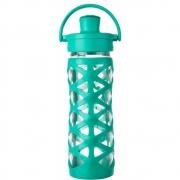 Lifefactory - Glas-Trinkflasche mit Active Flip