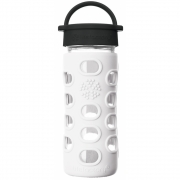 Lifefactory - Glas-Trinkflasche 350 ml Arctic White