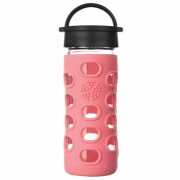 Lifefactory - Glass Drinking Bottle 350 ml Coral