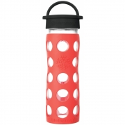 Lifefactory - Glas-Trinkflasche 475 ml Poppy