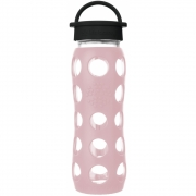 Lifefactory - Glas-Trinkflasche 650 ml Desert Rose