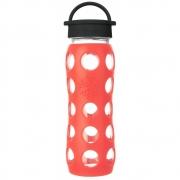 Lifefactory - Glas-Trinkflasche 650 ml Poppy