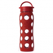 Lifefactory - Glas-Trinkflasche 650 ml Red