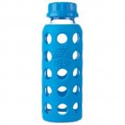 Lifefactory - Glas Kinderflasche 250 ml Cobalt Blue