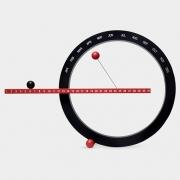 MoMA - Ewiger Kalender groß | rot/schwarz