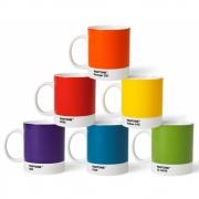 Pantone - Porzellan-Becher Set (6 Stück) Klassische Farben