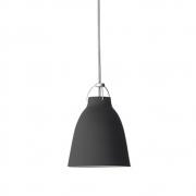 Fritz Hansen - Caravaggio mat P1 Suspension Ø 16,5 cm | Noir (câble Gris, 3m)