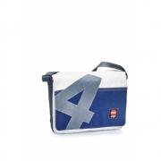 360 Grad - Barkasse sac en toile Blanc / bleu / nombre gris