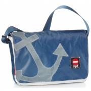 360 Grad - Barkasse Minisac en toile Bleu / Ancre gris