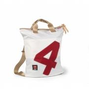 360 Grad - Ketsch sac à dos Blanc / nombre rouge